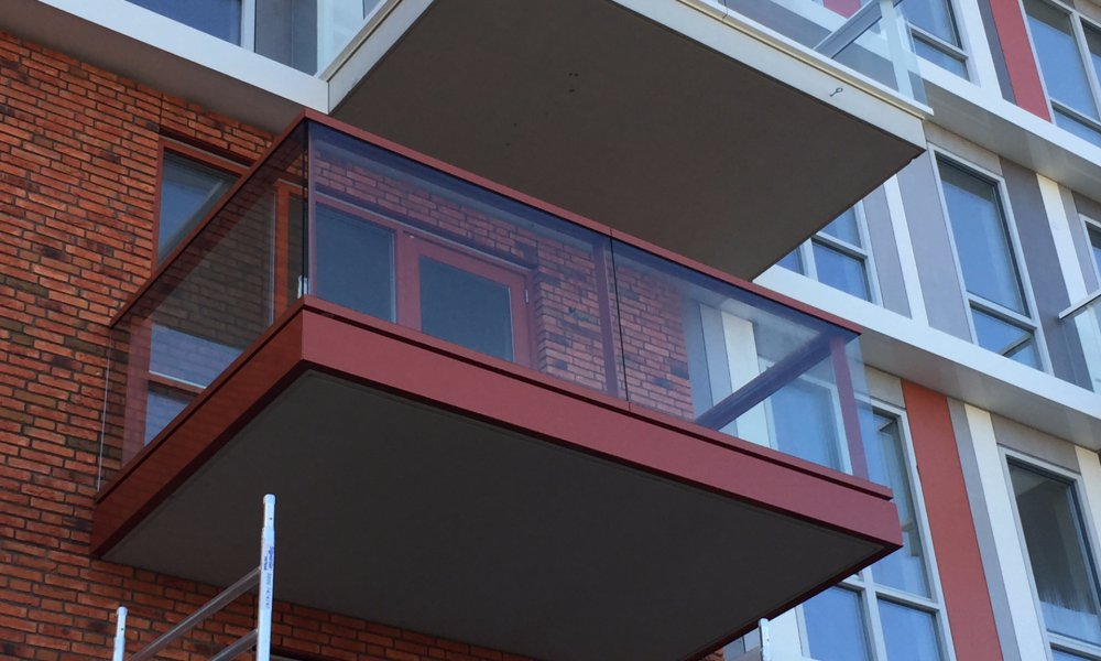 balkon rand afwerking